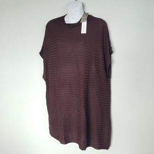 CHICO'S Brown Mock Neck Tania Pullover Sweater